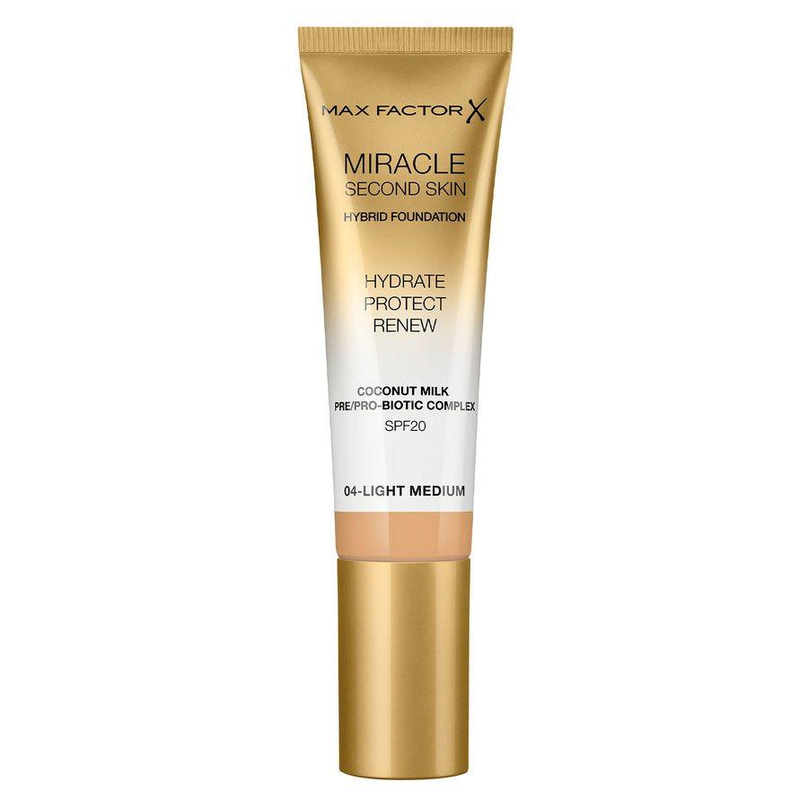 Max Factor Miracle Second Skin Foundation, #004 Light Medium (33 ml)