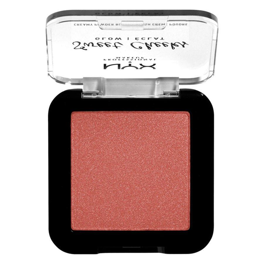 NYX Professional Makeup Sweet Cheeks Creamy Powder Blush Glow, Summer Breeze (5g)