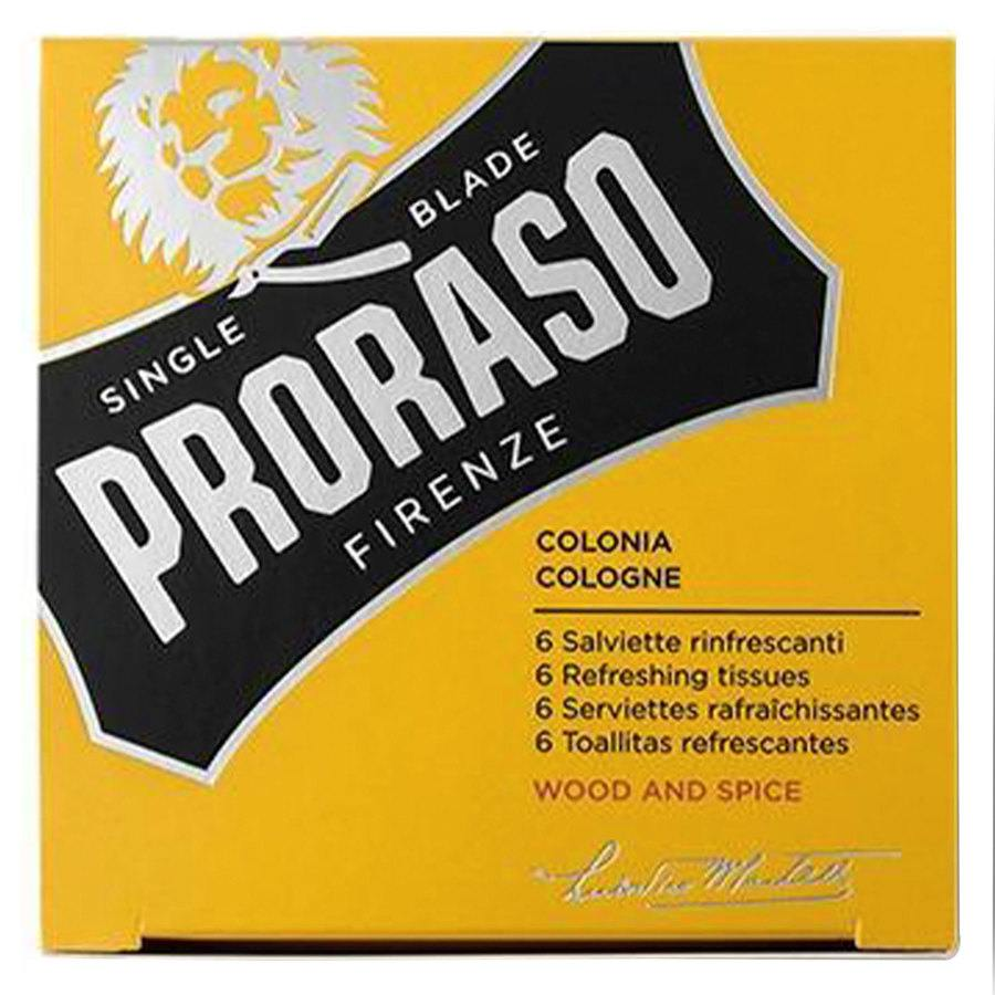 Proraso Beard Wipes, Wood & Spice (6 Stück)