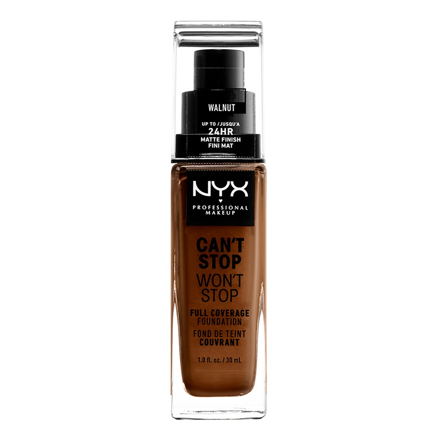 NYX Can't Stop Won't Stop Full Coverage Foundation 30ml, Walnut