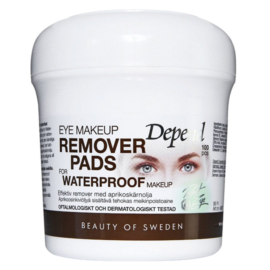 Depend Eye Makeup Remover Pads For Waterproof Makeup (100 St.)