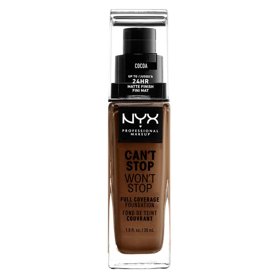 NYX Professional Makeup Can't Stop Won't Stop Full Coverage Foundation (30ml), Cocoa