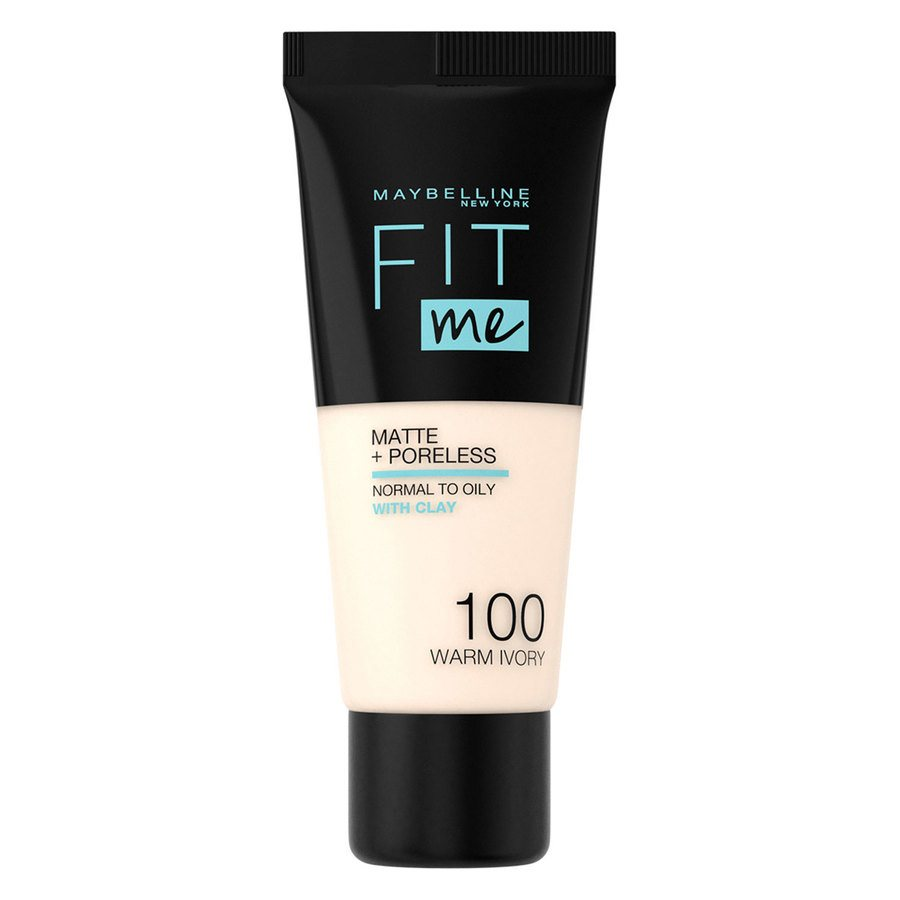 Maybelline Fit Me Makeup Matte + Poreless Foundation, 100 (30 ml Tube)