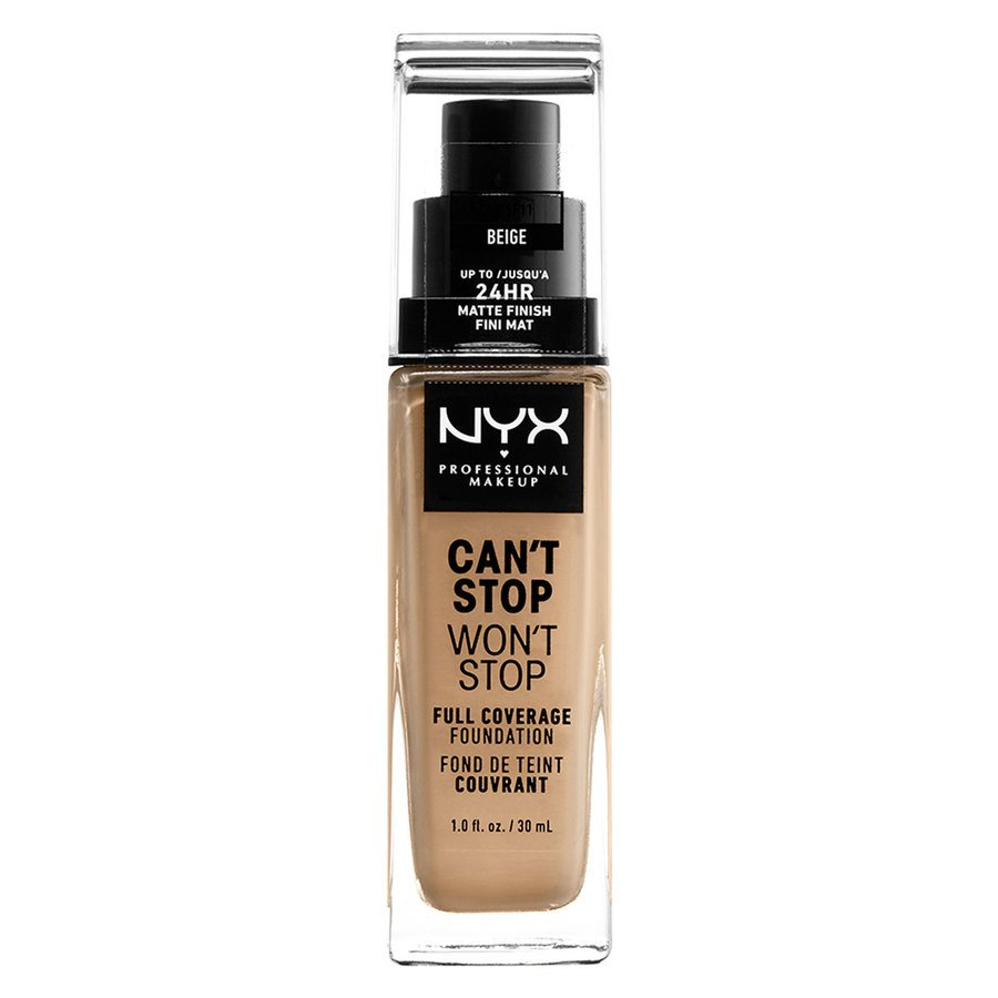 NYX Professional Makeup Can't Stop Won't Stop Full Coverage Foundation (30ml), Beige