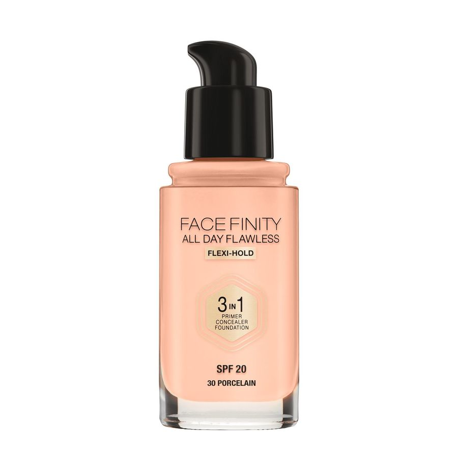 Max Factor Facefinity All Day Flawless 3-in-1 Foundation, Porcelain (30 ml)