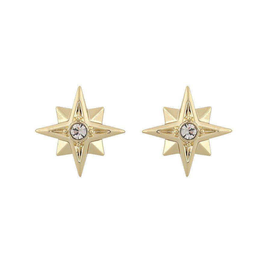 Snö Of Sweden Feliz Small Stone Earring, Gold/Clear