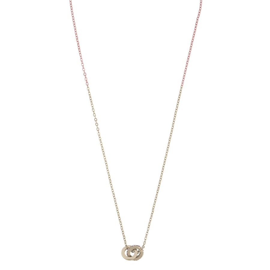 Snö Of Sweden Connected Pendant Necklace, Gold/Clear (42 cm)
