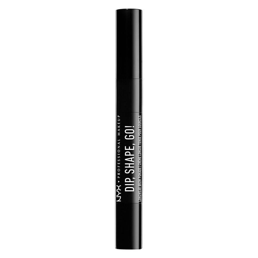 NYX Professional Makeup Dip Shape Go Longwear Brow, Black (1,2g)