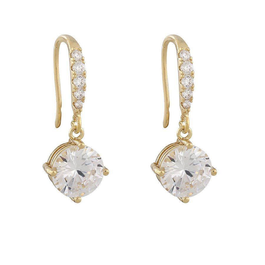 Snö Of Sweden Luire Stone Pendant Earring, Gold/Clear
