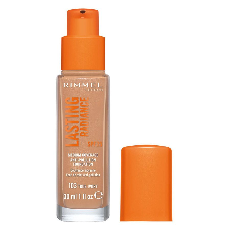 Rimmel London Lasting Radiance Foundation, # 103 True Ivory (30 ml)