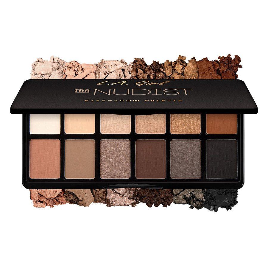 L.A. Girl Fanatic Eyeshadow Palettes, The Nudist (12x1 g)