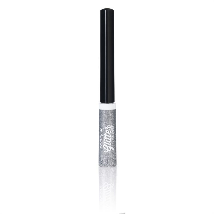 Beauty UK Glitter Liquid Eyeliner, No.1 Silver