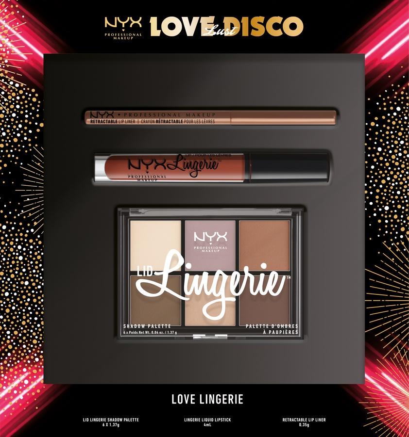NYX Professional Makeup Love Lust Disco Lingerie Set