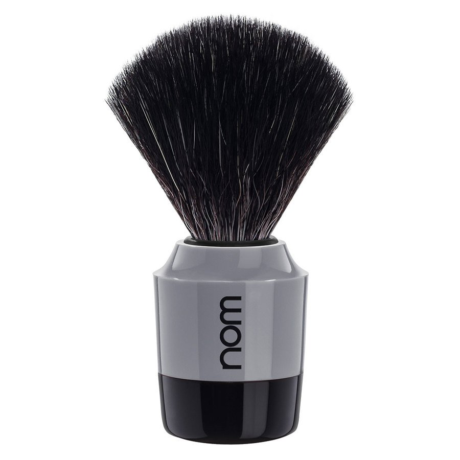After Marten Shaving Brush Black Fiber Black Gray