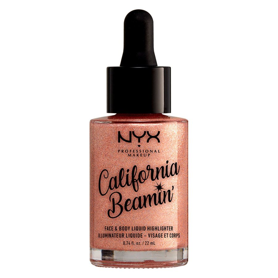 NYX Professional Makeup California Beamin Face & Body Liquid Highlighter, Beach (22ml)