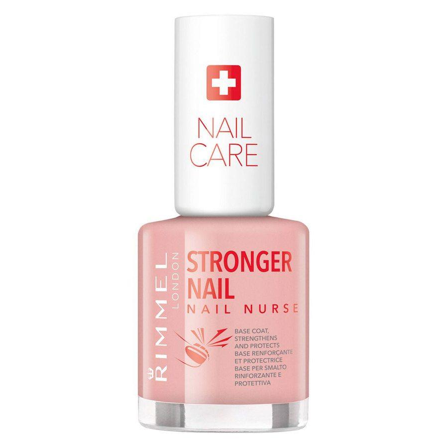 Rimmel Stronger Nail Nurse Base Coat Nail Polish, Transparent (12 ml)
