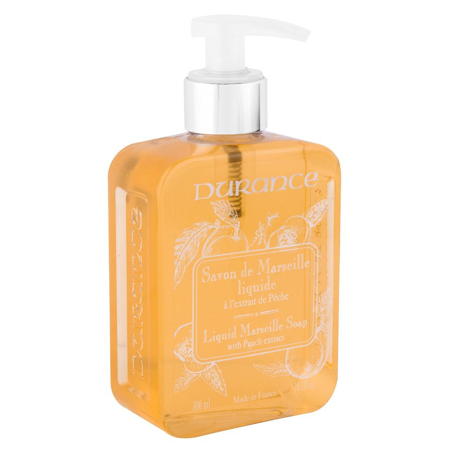 Durance Liquid Marseille Soap, With Peach And Basil (300ml)