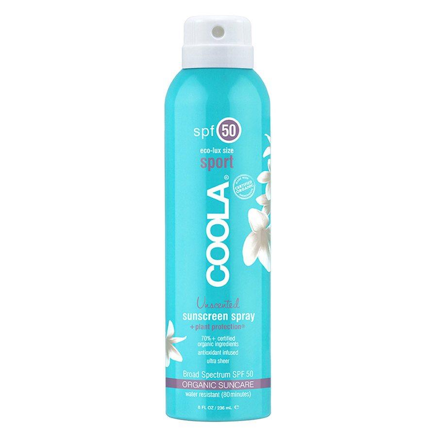 Coola Sport Continuous Spray Sonnenschutzspray LSF 50 (236ml), geruchlos