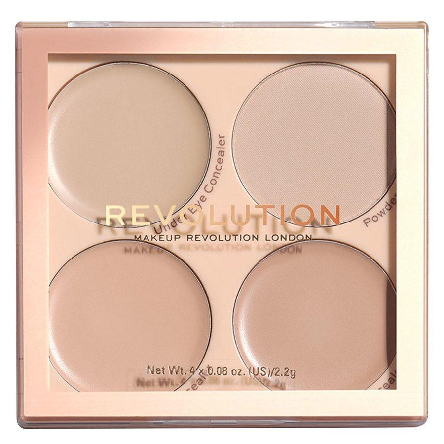 Makeup Revolution Matte Base Concealer Kit, C1-C4