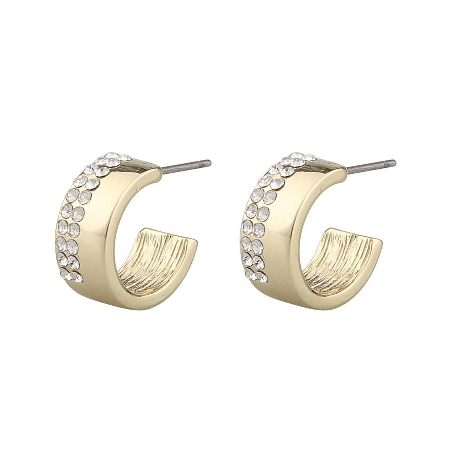 Snö Of Sweden Marseille Small Oval Earring, Gold/Clear