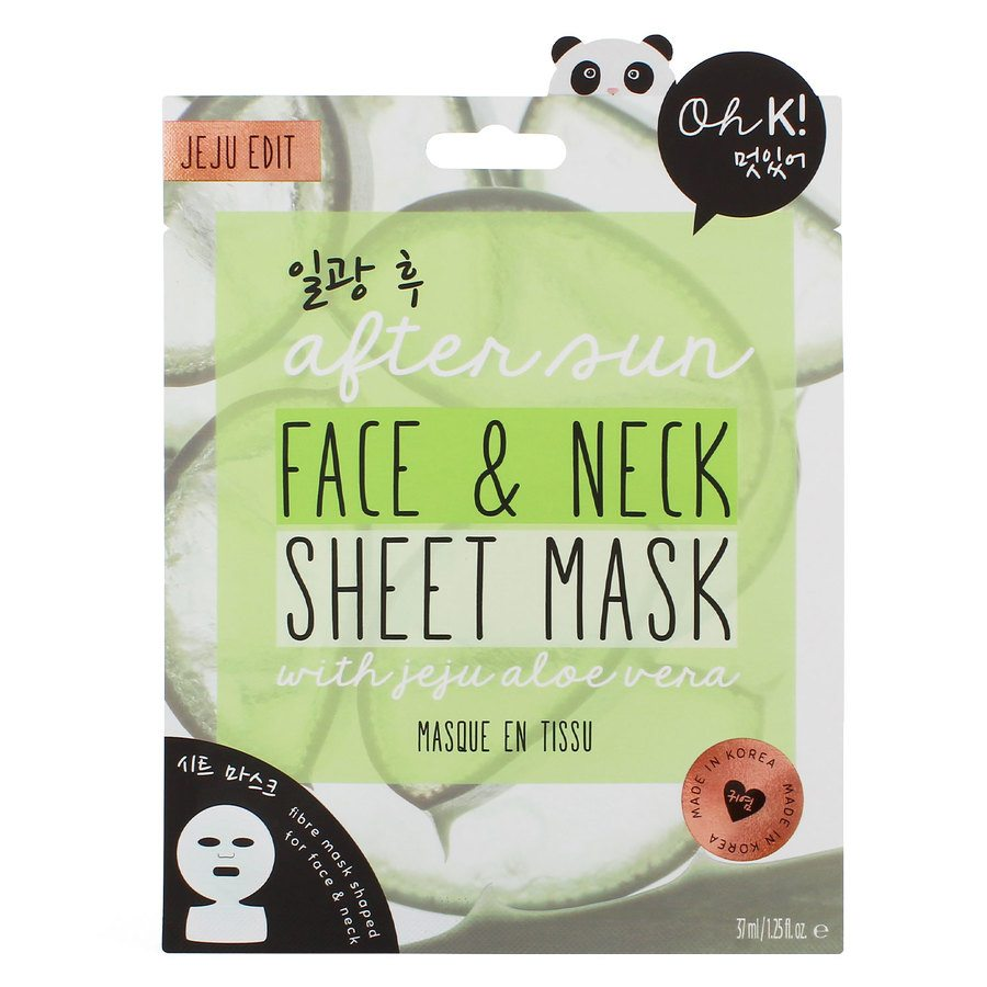 Oh K! After Sun Aloe Face And Neck Sheet Mask (37 ml)
