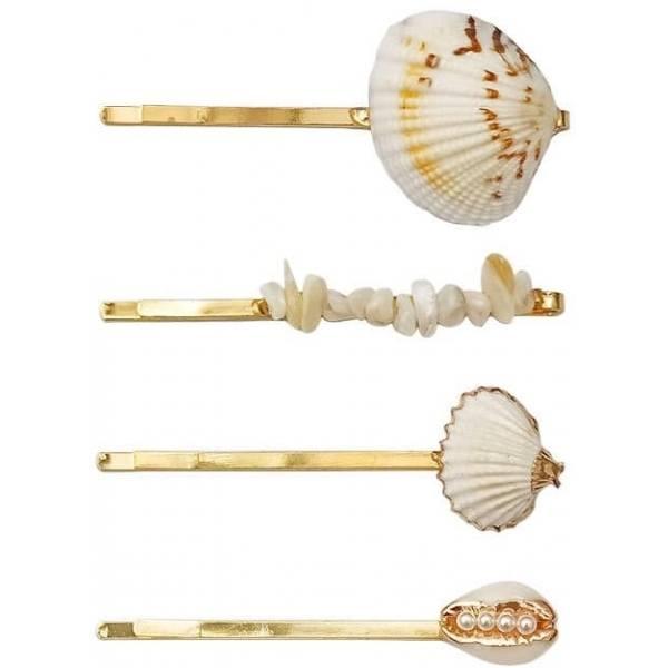 Hairpin sea shell, 03 Gold