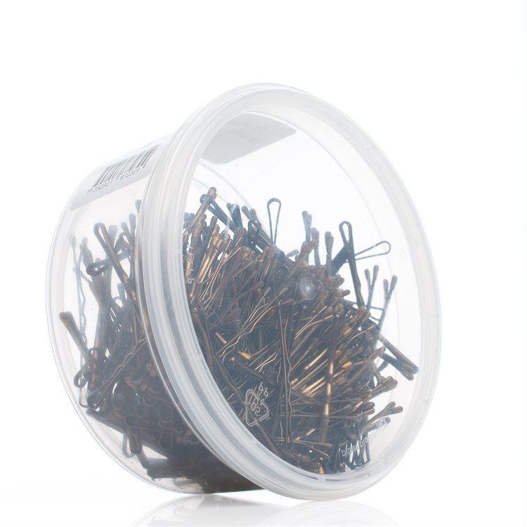 Professional Hairgrips Haarnadeln (59 mm) 300 Stück, braun