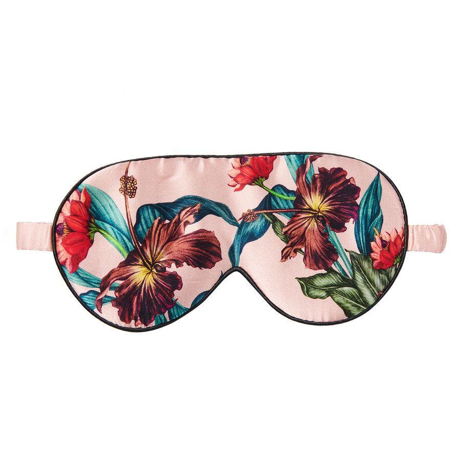 Fan Palm Sleeping Eye Mask Silk, Vintage Flower20x10cm