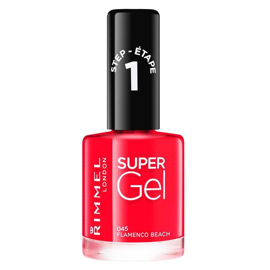 Rimmel London Super Gel Nail Polish, # 045 Flamenco Beach (12 ml)