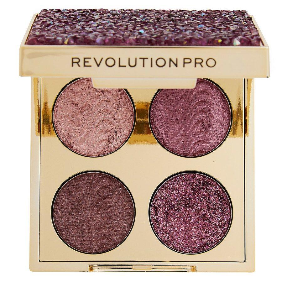 Makeup Revolution Pro Ultimate Crystal Eye Quad, Pink Topaz 4 x 0,8 g