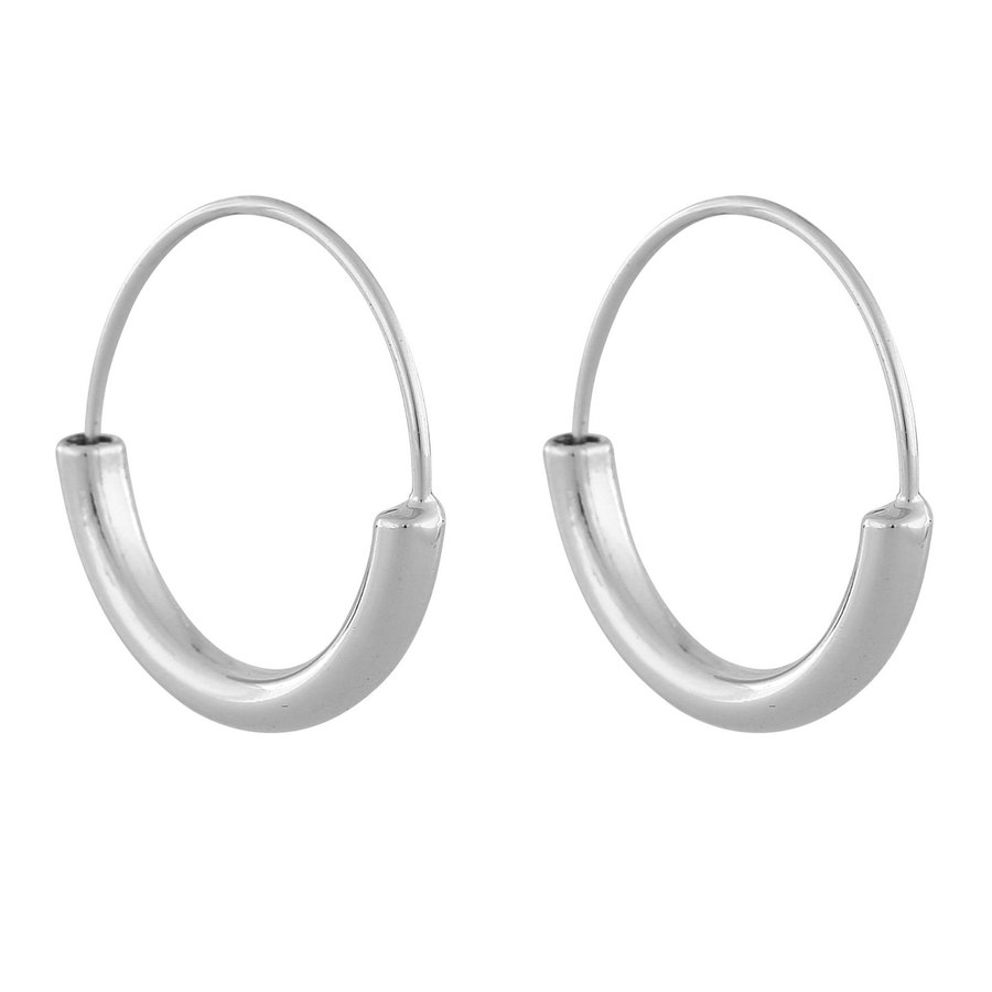 Snö Of Sweden Anglais Ring Earring, Plain Silver