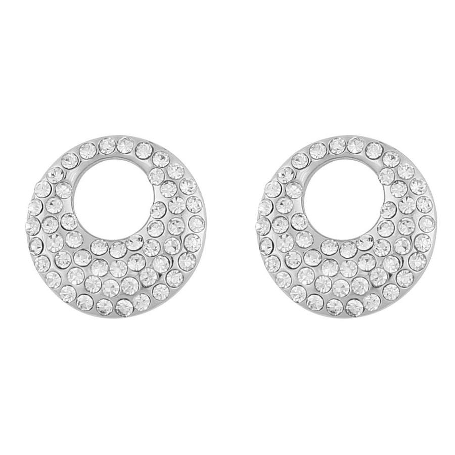 Snö Of Sweden Anglais Small Earring, Silver/Clear