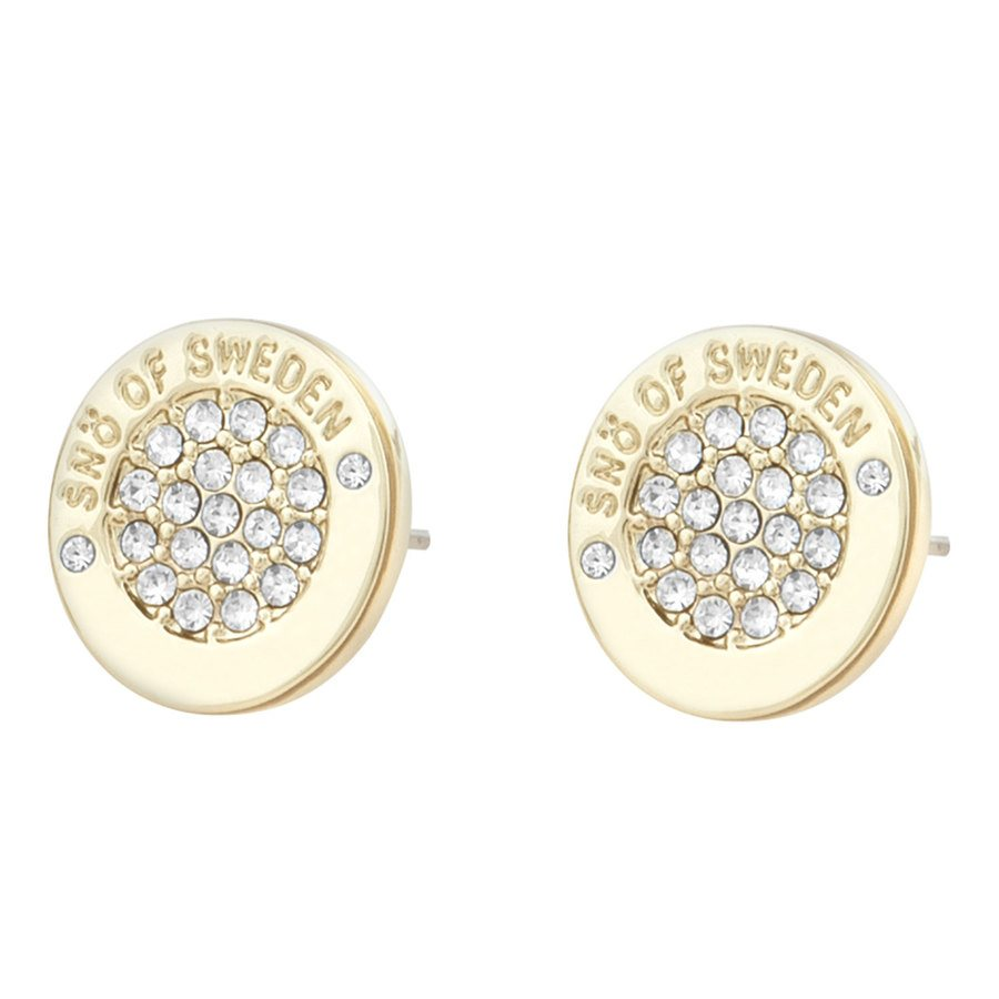 Snö Of Sweden Luna Earring Gold / Clear