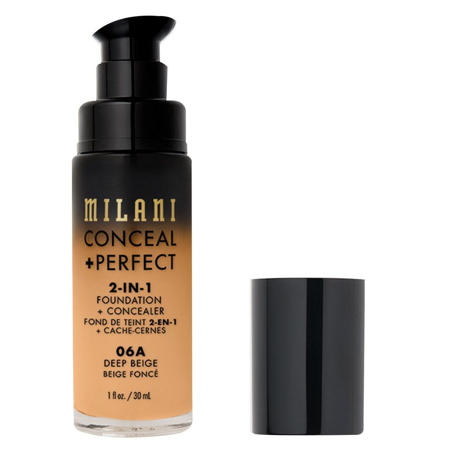 Milani Cosmetics Conceal + Perfect 2-In-1 Foundation + Concealer, Deep Beige (30 ml)
