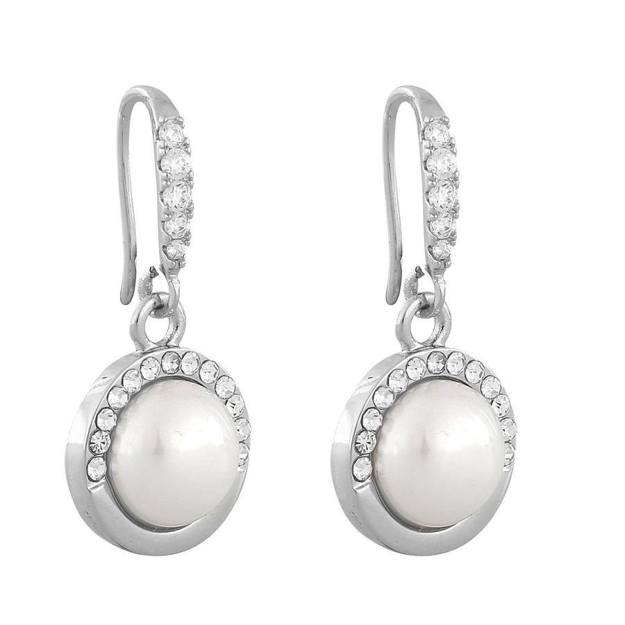 Snö Of Sweden Celine Short Earring, Silver/White