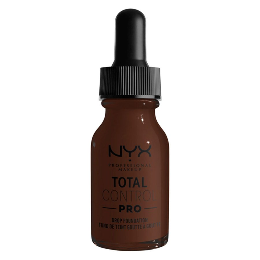 NYX Professional Makeup Total Control Pro Drop Foundation, Deep Ebony 13 ml