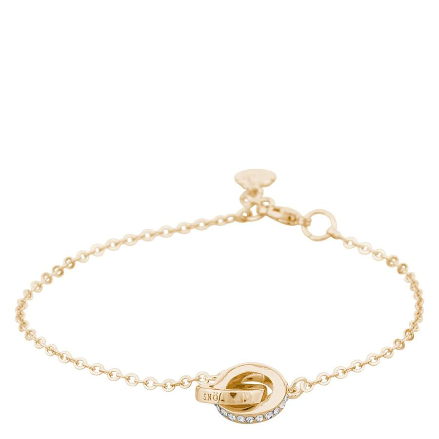 Snö Of Sweden Connected Chain Bracelet, Gold/Clear