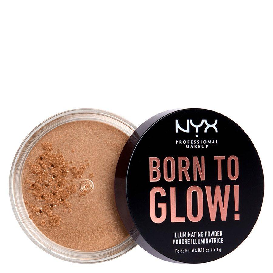 NYX Professional Makeup Born To Glow Illuminating Powder, Warm Strobe (5,3 g)