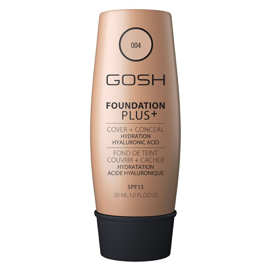 GOSH Foundation Plus+, #004 Natural (30 ml)