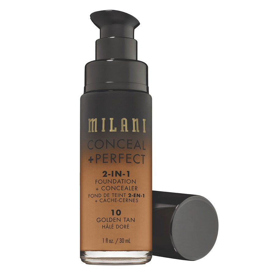 Milani Conceal & Perfect 2 In 1 Foundation + Concealer, Golden Tan (30 ml)