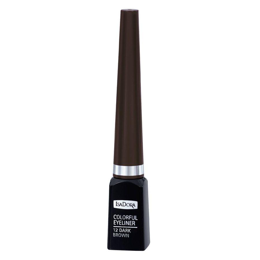 IsaDora Colorful Eyeliner, # 12 Dark Brown (3,7 ml)
