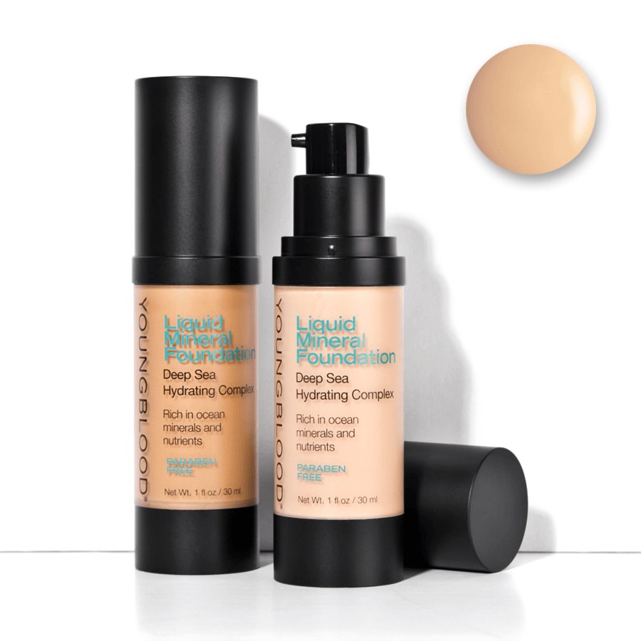 Youngblood Liquid Mineral Foundation, Pebble (30 ml)
