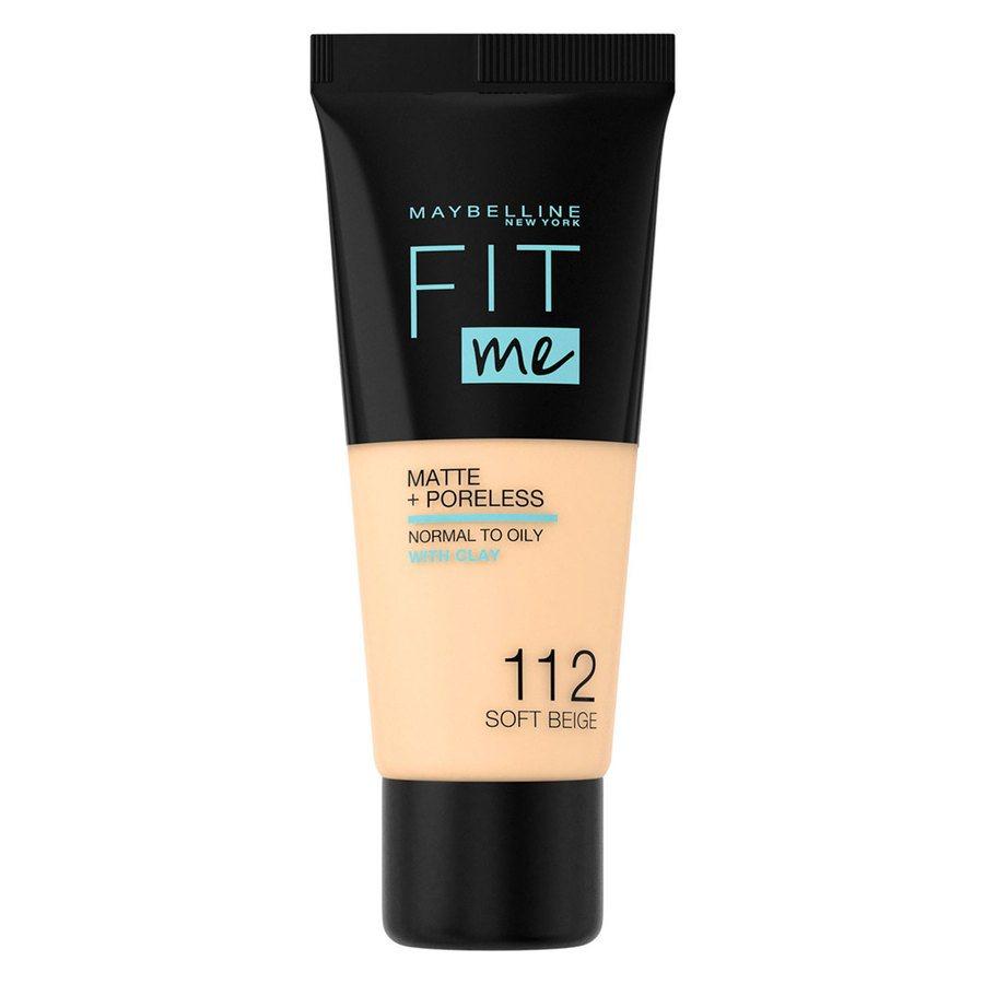 Maybelline Fit Me! Matte + Poreless Foundation, #112 Soft Beige 30ml