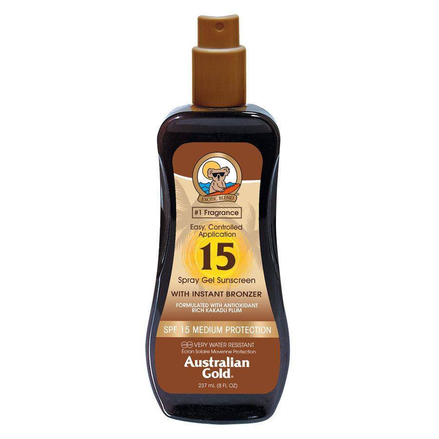 Australian Gold Spray Gel SPF 15 With Instant Bronzer (237 ml)