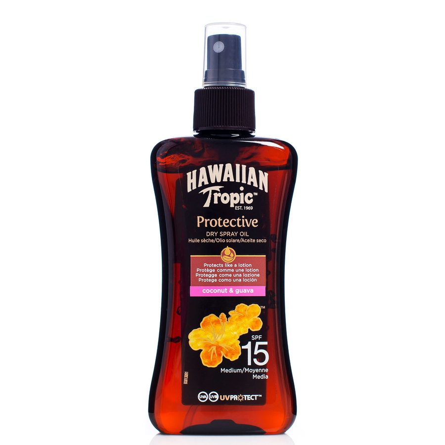Hawaiian Tropic Protective Dry Oil Spray LSF15 (200 ml)
