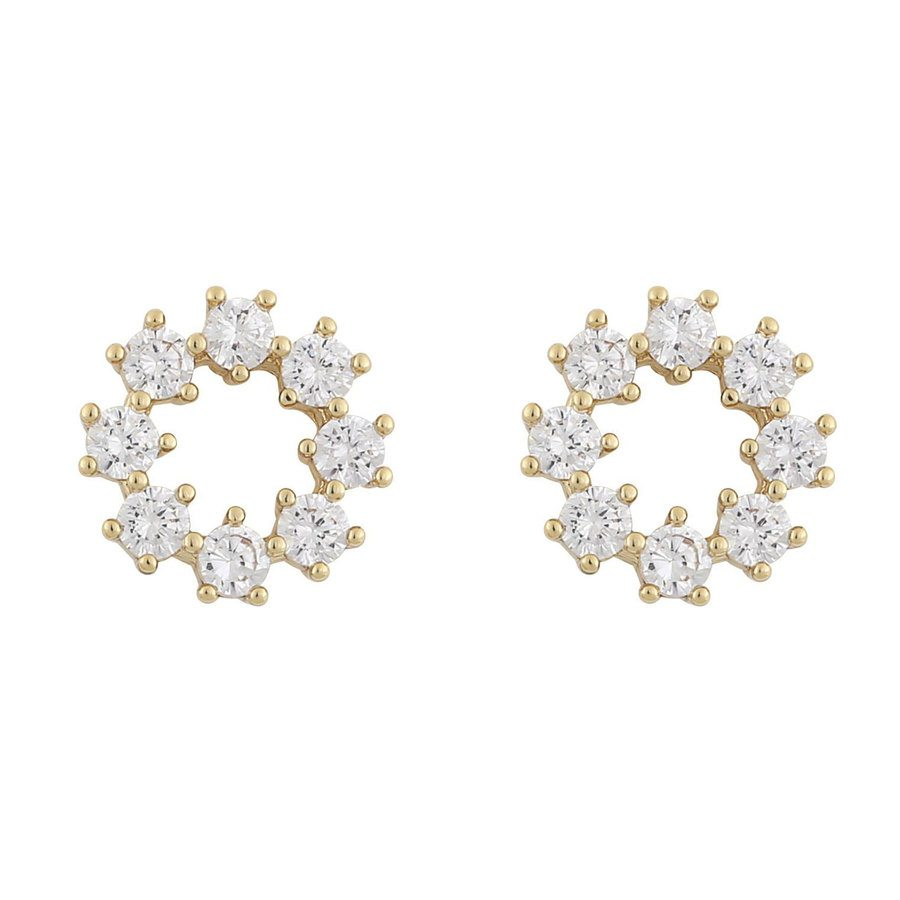 Snö Of Sweden Luire Round Earring, Gold/Clear
