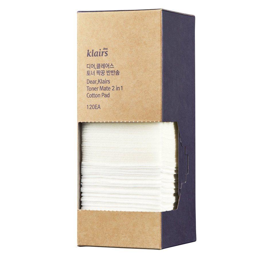 Klairs Toner Mate 2-In-1 Cotton Pad (120Stück)