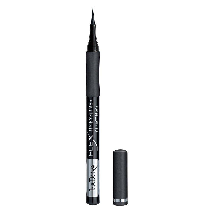 IsaDora Flex Tip Eyeliner, # 81 Matt Black 1,2 ml