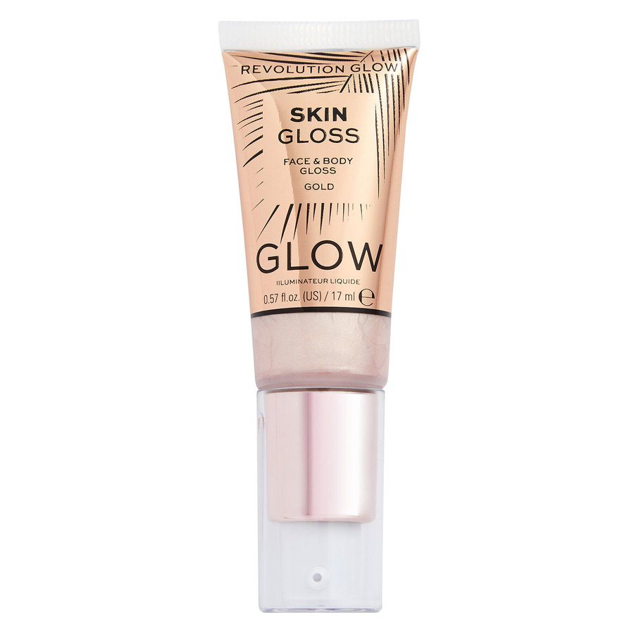 Revolution Face & Body Gloss, Gold 17ml