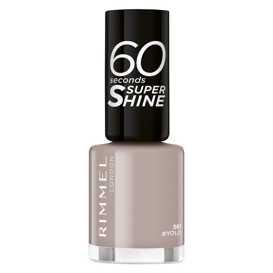 Rimmel London 60 Seconds Super Shine, 561 Yolo (8 ml)